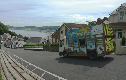 Can four-weekly collections move mountains in Conwy?