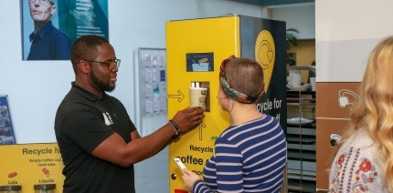 A recycling reward machine in Leeds