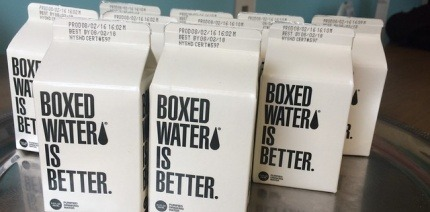 Cartons of water