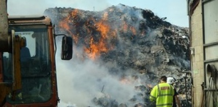 A fire at an unpermitted site operated by Averies