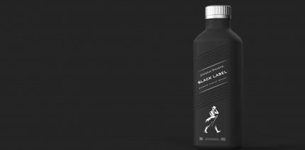 Diageo's new paper-based spirits bottle