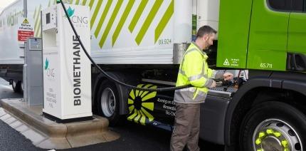 Waitrose trucks using CNG Fuels' biomethane