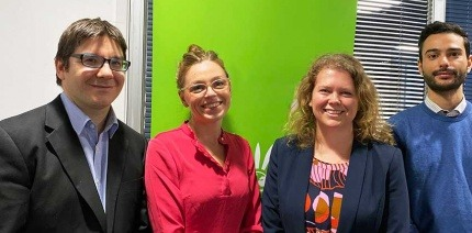 Mark Miles and Rosie Barker from MMU, and Sophie Walker and Georgios Rovolis from Dsposal