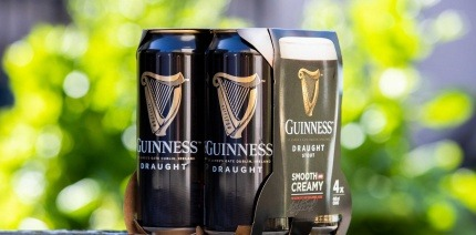 The new cardboard Guinness case