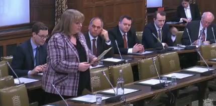 Sharon Hodgson MP debating in Westminster Hall