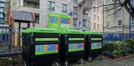 London flats recycling facilities