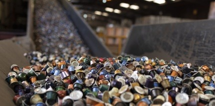 A pile of old aluminium for recycling
