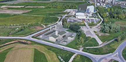 CGI image of the proposed waste-to-hydrogen facility in Ellesmere Port