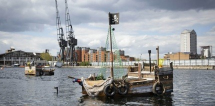 Treasure Your River's robotic litter-picking pirate ship