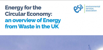 ESA calls for government support for EfW to promote circular economy