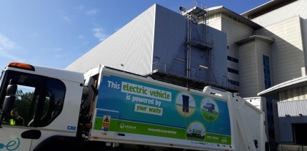 Electric-powered waste collection vehicle in Sheffield