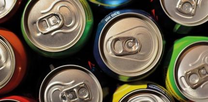 Stack of aluminium cans