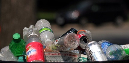 Image of cans and bottles in a bin
