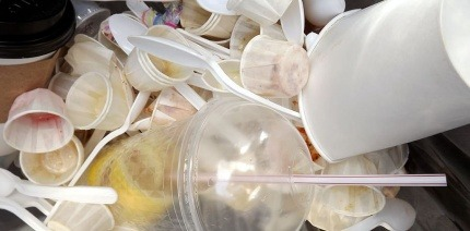 Food packaging waste