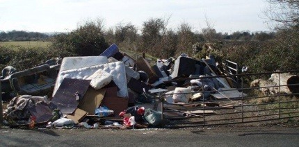 An image of illegally dumped waste