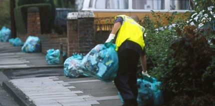 Collections of kerbside recycling