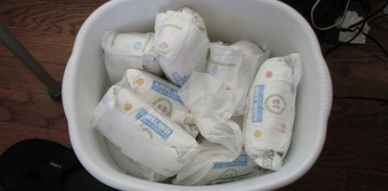 An image of nappy waste