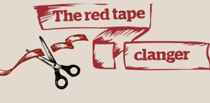 Red tape clanger