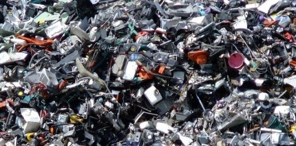A mountain of electronic waste