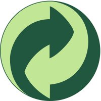 The Green Dot symbol, which indicates that a company has joined the Green Dot scheme