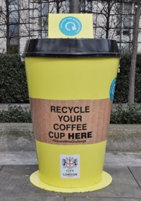 London's workers urged to recycle 5m coffee cups in 2017 through Square Mile Challenge